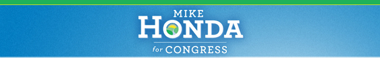 Mike Honda for Congress banner